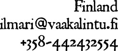 Contact information: ilmari put-at-here vaakalintu dot fi.